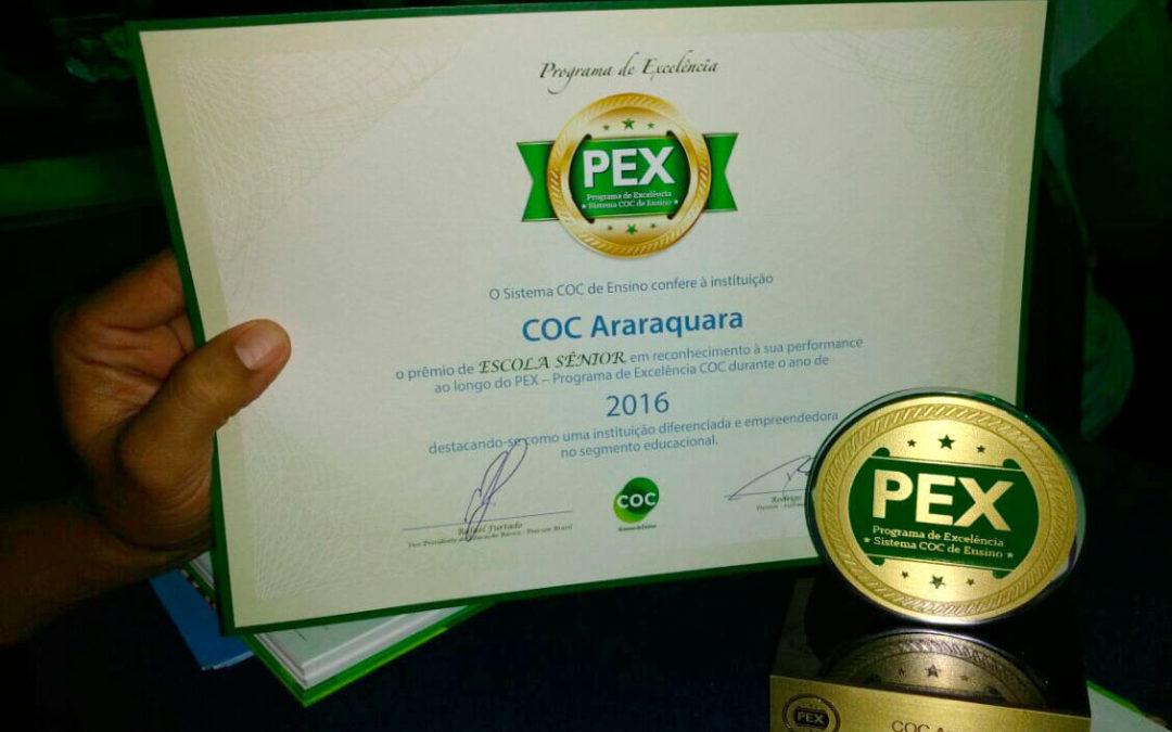 COC Araraquara recebe prêmio excelência de qualidade